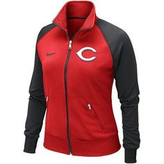 Nike Cincinnati Reds Ladies Full Zip Track Jacket, want this but with Cleveland!!