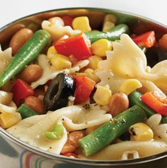Overnight Pasta and Bean Salad gets better with time, so refrigerate it for up to 24 hours for best results. Plus it makes a ton which makes it great for reunions, tailgates and parties!