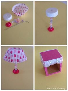 Upcycled Dollhouse 3 - Teach me mom - Dollhouse Teach Mama mich Upcycl .Upcycled Dollhouse 3 - Teach me mom - Dollhouse Teach Mama mich UpcycledDIY side tables from old drawers diy furniture Upcycled Crafts, Diy And Crafts, Paper Crafts, Stick Crafts, Canvas Crafts, Resin Crafts, Barbie House Furniture, Doll Furniture, Dollhouse Furniture