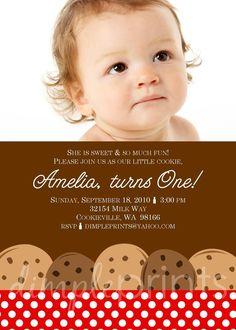 Milk & Cookies Party Invite