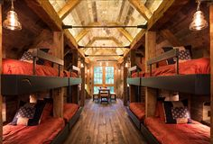 Bunk House. Rustic Bunk house with great rustic interior ideas.