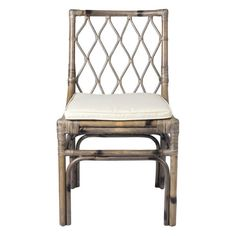 Our Diamond Back Dining Chair has an element of rustic style due to its rattan makeup. Complete with a soft cushion, integrate these pieces around your family dining table or attached to your kitchen counter. Rattan Dining Chairs, Solid Wood Dining Chairs, Upholstered Dining Chairs, Bar Chairs, Dining Chair Set, Side Chairs, Office Chairs, Thing 1, Dining Room Bar