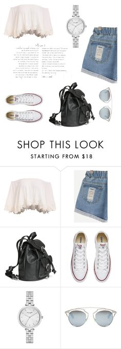 """Untitled #13"" by enakalesiic ❤ liked on Polyvore featuring Converse, Kate Spade and Christian Dior"