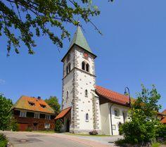 Die Kirche in Altglashütte am Feldberg
