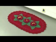 Vida com Arte | Tapete três flores em crochê por Maria José - 11 de abri...