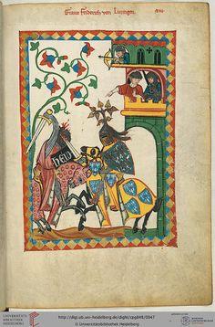 Cod. Pal. germ. 848: Cod. Pal. germ. 848 Große Heidelberger Liederhandschrift (Codex Manesse) (Zürich, ca. 1300 bis ca. 1340) pag. 26r