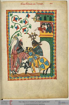 Codex Manesse, Graf Friedrich von Leiningen, Fol 026r, c. 1304-1340