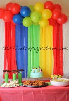 Resultado de imagen para decoracion con globos sencilla para fiesta infantil
