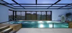 Pool at Ambika Penthouse in London by Buckley Gray Yeoman Architects