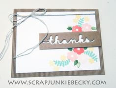 scrap junkie: Stampin' Up! Artisan Blog Hop-Endless Thanks!