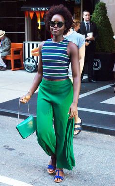 Lupita Nyong'o from The Big Picture: Today's Hot Photos  Color coordinated! The gorgeous gal heads out in bright hues in Manhattan.