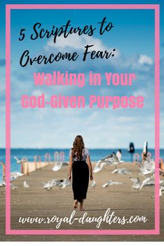 Are you afraid to step out in the vision God gave you? Click here to find five scriptures that will help you overcome fear and walk in your God-given purpose!