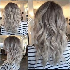 Best Ash Blonde Hair Color Ideas for 2019 - - Ash blonde hair color is one of a variety of blonde hair color is much preferred. Many Hollywood actresses color their hair with this hair color. Ash blonde is somewhat pale, warm tones of blond, a…. Grey Balayage, Ash Blonde Hair Balayage, Dark Ash Blonde Hair, Platinum Blonde Hair Color, Ombre Hair, Blonde Color, Grey Blonde, Blonde Ombre, Guy Tang Balayage