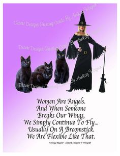 Women Are Angels Adult Humorous Poster by AnnKayGreetingCards, $18.00