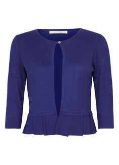 Linen & Cotton Mix Cardigan with Pleated Hem in Bright Crocus