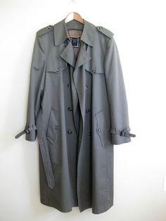 Christian Dior Mens Trench Coat, Designer Vintage, 42L, Gift For Him, Mens Jacket, Trench Coat
