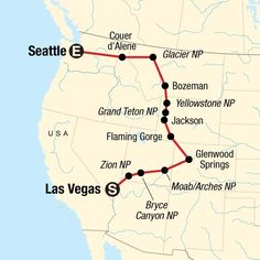 Map of the route for Northwest National Parks Road Trip - Beste Reisetipps 2019 Us Travel Destinations, Rv Travel, Travel Maps, Places To Travel, Family Travel, Travel Gadgets, Family Vacations, Family Road Trips, Texas Travel