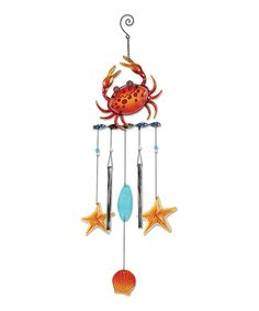 Look at this Crab & Sea Shell Wind Chime on #zulily today!