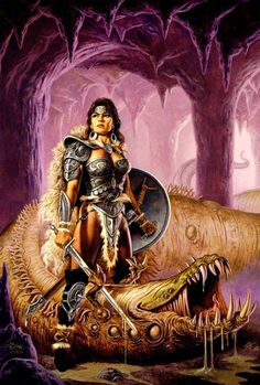 wurm - by Clyde Caldwell | Featured Artist on the Fantasy Gallery
