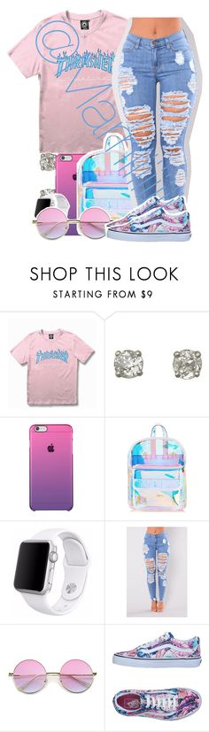"""""""Im making moves"""" by marriiiiiiiii ❤ liked on Polyvore featuring WithChic, Skinnydip, Apple, Vans and Minnie Grace"""