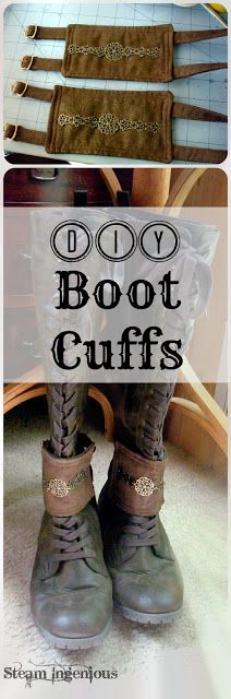 Tutorial: Making Steampunk Boot / Ankle Cuffs by Steam Ingenious