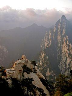 Stone pagoda on the East Peak of the holy mountain Hua Shan, Xi'an, China