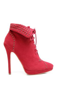 Two Lips Too Tumble Lace-Up High Heel Bootie