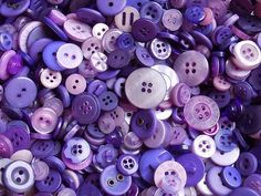 Here are some mixed sizes, holes and tones of purple buttons for your sewing projects. Measurements: Mixed Listing is for the quantity of 50 of these lovely purple buttons :) Purple Haze, Shades Of Purple, Button Flowers, All Things Purple, Button Crafts, Sewing A Button, 50th, Sewing Projects, Baby Shower