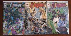 Valiant Comics Ninjak #1 2 3 Comic Book Lot