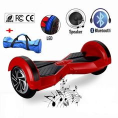 2016 Newest Model APP 8 inch Hoverboard Smart Self Balance Scooters with bluetooth speaker electric unicycle 2 Wheels White Red