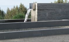 Contemporary Water Feature Stone Wall Fountain