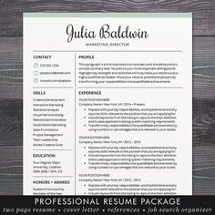Professional Resume Template Word Professional Resume Modern Resume Professional Resume Template
