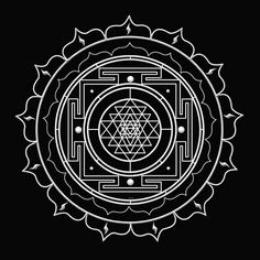Sri Yantra Tattoo, would be really awesome in red ink, on upper back.