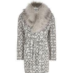 RI Girls beige faux fur belted jacket - jackets - coats / jackets - girls