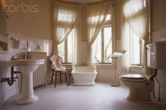 Bathroom in the Pittock Mansion. 1914
