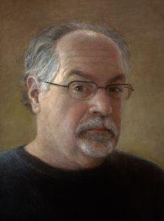 """Wayne Daniels, Self Portrait, 9 x12"""" oil on board."""