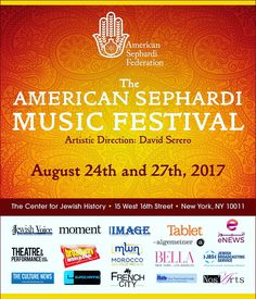 Save The Date! David Serero is the Artistic Director of the 1st edition of the American Sephardi Music Festival of New York!! Line up to be soon revealed with first class and best musicians of Sephardi music in the world. Partners contact inbox.