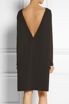 Chocolate stretch-crepe Concealed zip fastening along side 51% viscose, 46% acetate, 3% elastane Dry clean  Designer color: Espresso New Dress, Dress Up, Dress Long, Alexander Mcqueen, Calvin Klein Collection, Crepe Dress, Little Dresses, Dress Collection, Sleeve Styles