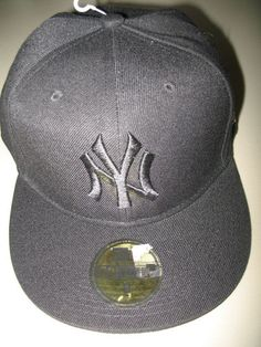 New 59Fifty New York Yankees NY Black Embroidered MLB Baseball Cap Lids Hat 118e6f3e4d96
