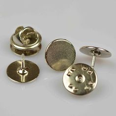 Bulk 50pcs.12MM Round Tie Tack Clutch Lapel Pin by UMakeSupply