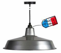 suspension-atelier-alu Lustre Design, Style Loft, Suspension Design, Luminaire Design, Ceiling Lights, Lighting, Home Decor, Industrial Shop, Edison Bulbs