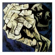 Oswaldo Guayasamín - Fusilamiento, no but here's this one, from from a series of hands called Las Manos de Oración: