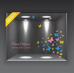 Adesivi Vinile Vetrina Vetrofania Vetrofanie Primavera Estate Farfalle  Saldi • EUR 15,00