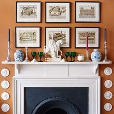 7 ways to style a mantlepiece