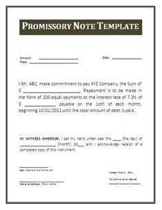 printable sample promissory note sample form real estate