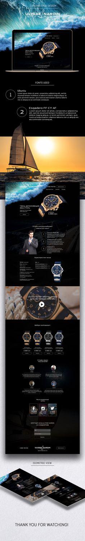 Landing page design Ulysse Nardin on Behance