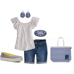 Blue stripes-I think I'm a little old for this but still cute
