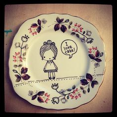 Amazing little painting plate I bought at http://www.etsy.com/shop/stamptout
