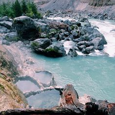 The turquoise waters at Keyhole Hot Springs near Whistler. Photo: Caley Vanular The turquoise waters at Keyhole Hot Springs near Whistler. Oh The Places You'll Go, Places To Travel, Places To Visit, Travel Destinations, Montezuma, Monteverde, Whistler, Surf, Destination Voyage