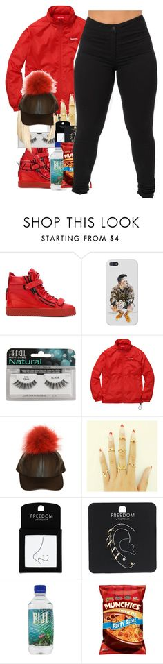 """""""yah"""" by thaofficialtrillqueen ❤ liked on Polyvore featuring Giuseppe Zanotti, Ardell and Topshop"""